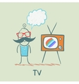people like to watch TV vector image