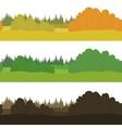 Set seamless landscapes forest vector image