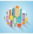 Flat building design cityscape background vector image