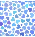 Blue heart seamless pattern on Valentines day vector image