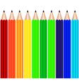 Color pencils background vector image