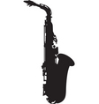 saxophone silhouette vector image vector image