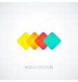 colored squares logo vector image