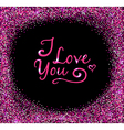 Glittering background for Valentines day vector image