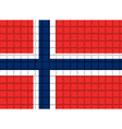 The mosaic flag of Norway vector image