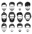 bearded man hairstyles vector image