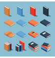 Colourful book set vector image