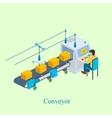 Conveyor Isometric industrial vector image