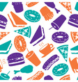 fast food colorful pattern eps10 vector image