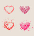 happy valentines day design elements vector image