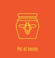thin line icon pot of honey vector image