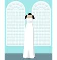 direct wedding dress on mannequin in saloon vector image vector image