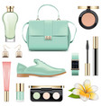 fashion accessories set 5 vector image