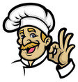 chef mascot vector image vector image