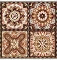 Set of brown romantic patterns vector image