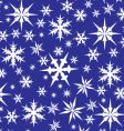 white snowflakes on blue vector image vector image