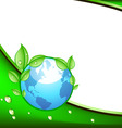 eco design with globe vector image vector image