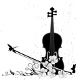 floral musical composition with violin vector image vector image