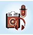 Music icon Retro concept Flat vector image