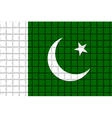 The mosaic flag of Pakistan vector image