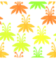 Tribal seamless pattern with treesSeamless Floral vector image