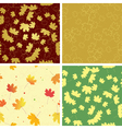 autumn bright leaves on seamless patterns vector image vector image