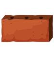 Brick with three holes vector image