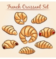 French Croissant set vector image