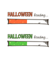 Hand drawn halloween loading bars set collection vector image