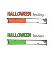 Hand drawn halloween loading bars set collection vector image