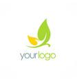 leaf cosmetic organic logo vector image