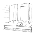 Modern interior hand drawing vector image