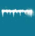 set of cartoon snow design element on blue vector image