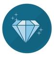 shiny diamond emblem icon image vector image