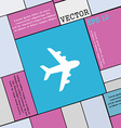 Plane icon sign Modern flat style for your design vector image
