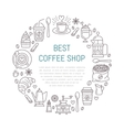 Coffee shop poster template line vector image