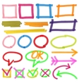 Highlighter marks stripes strokes frames vector image