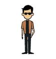 man standing cartoon male people avatar vector image
