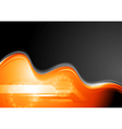 Abstract waves technology design vector image vector image