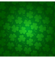 Seamless clover background for St Patricks Day vector image