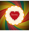 Valentine heart with text on vintage background vector image vector image