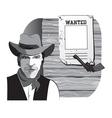 cowboy wanted vector image vector image