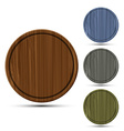 set of round kitchen boards vector image vector image