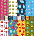 Collection Seamless Textures for Winter Holidays vector image