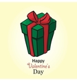 Present for valentine day box handdrow vector image