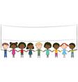 Cheerful happy kids vector image vector image