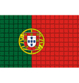 The mosaic flag of Portugal vector image