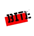 Bite rubber stamp vector image