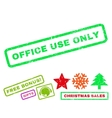 Office Use Only Rubber Stamp vector image