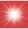 Red and white abstract magic light background vector image
